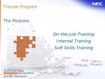 Trainee Program The Modules On-the-Job Training Internal Training ...