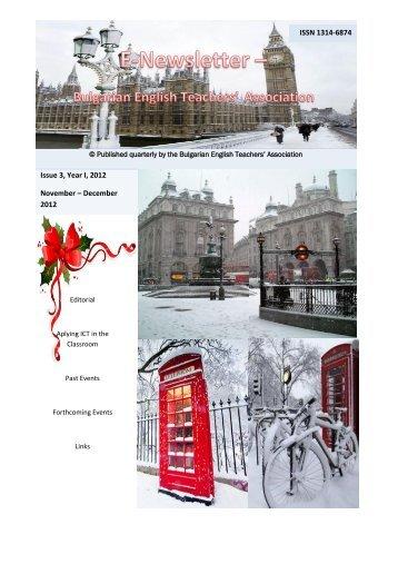 Issue 3, Year I, 2012 November – December 2012 ISSN 1314-6874