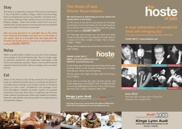 the of jazz - The Hoste