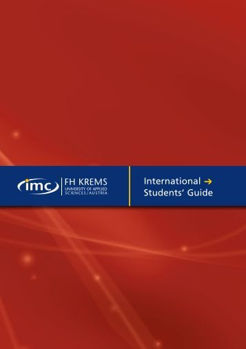 International Students' Guide - IMC Fachhochschule Krems