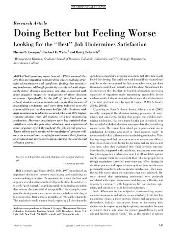 doing better but feeling worse the If asked 'is your therapy making you feel better' that client might well say 'no, i feel worse' but is it working yes once the loss is mourned the client will recover and be able to get on with their life in a healthier way the bravest clients will stick with the process, work through the pain and ultimately lead.