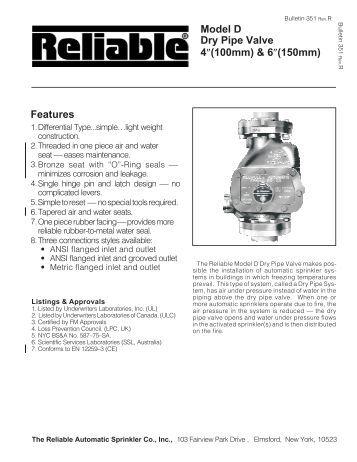 Model Acc 1 Dry Pipe Valve Accelerator