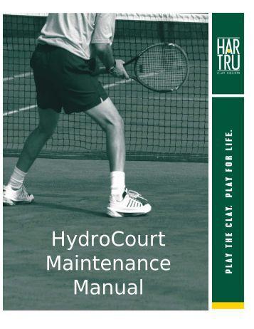 HydroCourt Maintenance Manual - Har-Tru