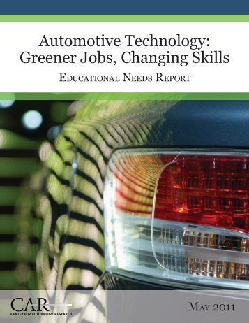Automotive Technology: Greener Jobs, Changing Skills