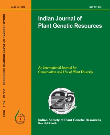 indian society of plant genetic resources - Bioversity International