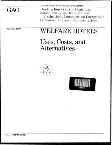 HRD-89-26BR Welfare Hotels - US Government Accountability Office