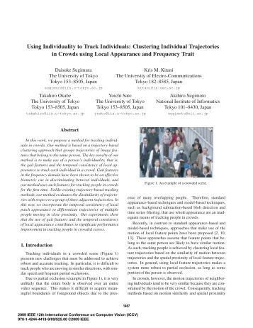 Using Individuality to Track Individuals: Clustering Individual ...