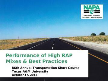 presentation slides - Texas A&M Transportation Institute