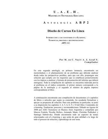U . A . E . H . A B P 2 Diseño de Cursos En Línea