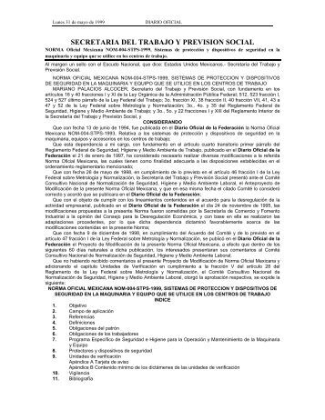 NOM-004-STPS-1999 - Normas Oficiales Mexicanas de Seguridad y ...