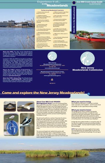 Come and explore the New Jersey Meadowlands!