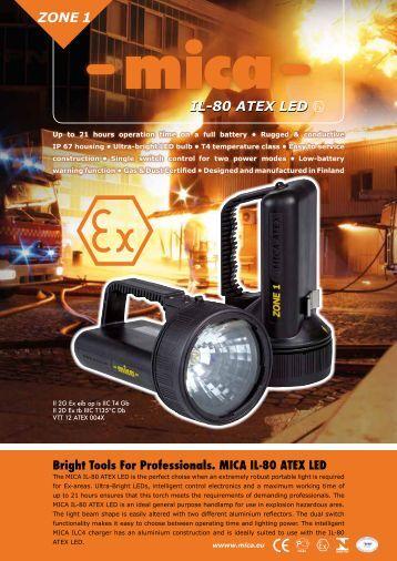 MICA IL-80 ATEX LED - Mica Elektro OY Ltd