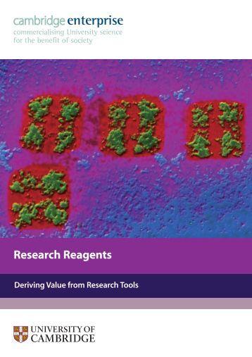 reagents brochure - Cambridge Enterprise - University of Cambridge