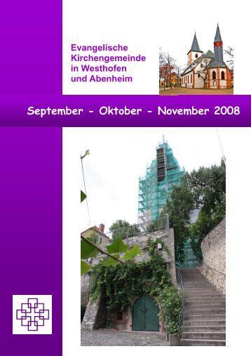 September bis November - Evangelische Kirchengemeinde ...