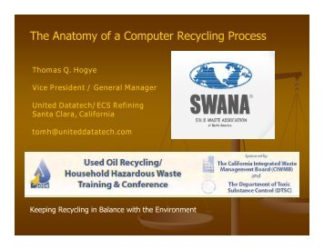 The Anatomy of a Computer Recycling Process - CalRecycle