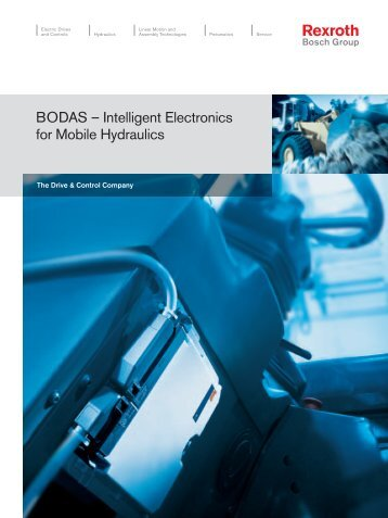 BODAS – Intelligent Electronics for Mobile Hydraulics - Bosch Rexroth