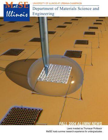 MatSE news/Fall02 - Materials Science and Engineering - University ...