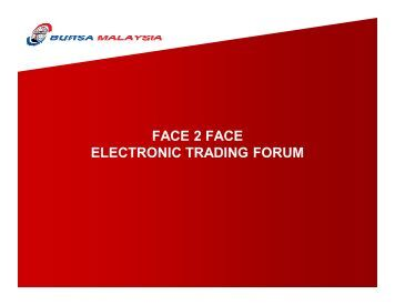 FACE 2 FACE ELECTRONIC TRADING FORUM - Plus Concepts