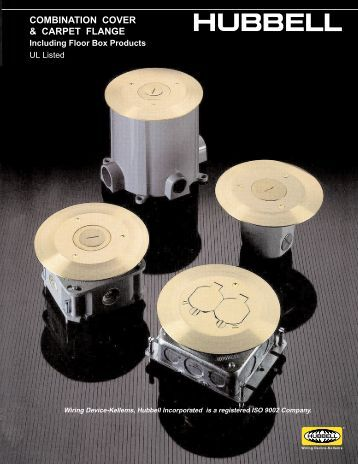 combination cover & carpet flange - Hubbell Wiring Device-Kellems