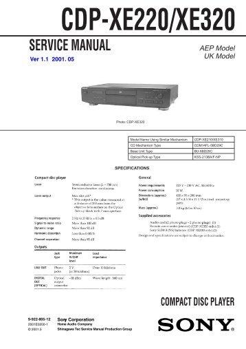 CDP-XE220/XE320 - Page de test