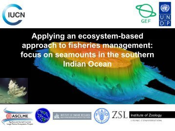 focus on seamounts in the southern Indian Ocean - IUCN