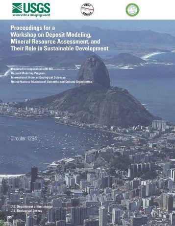 Proceedings for a Workshop on Deposit Modeling, Mineral - USGS