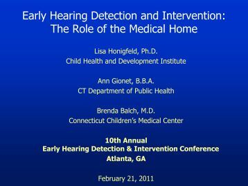 early hearing detection essay ~each year, an estimated three in 1000 infants are born in the us with moderate, severe, or profound hearing loss.