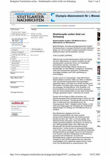 Radarsoldaten fordern 128 Millionen Euro