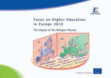 Focus on Higher Education in Europe 2010: The ... - EACEA - Europa
