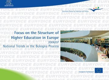 Focus on the Structure of Higher Education in ... - EACEA - Europa