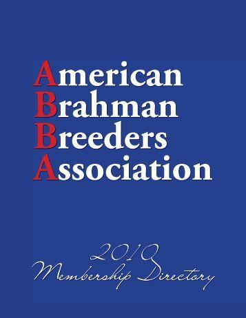 2010 Membership Directory - American Brahman Breeders ...
