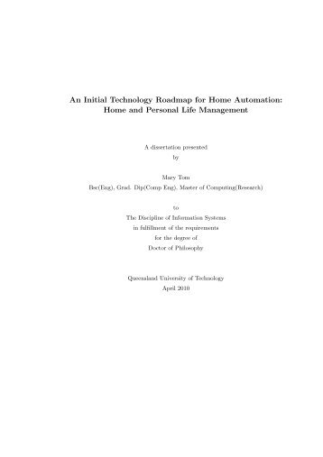 An Initial Technology Roadmap for Home Automation: Home and ...