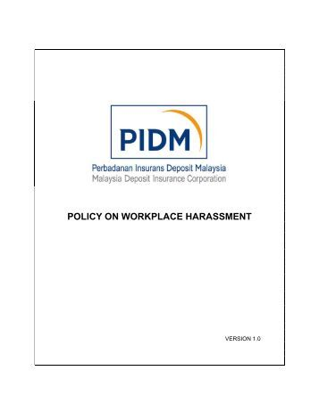 Anti Discrimination Policy Template A Policy Against Discriminatory Harassment In The Workplace CDPDJ