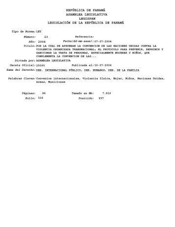 Ley contra la Delincuencia Organizada - piaje