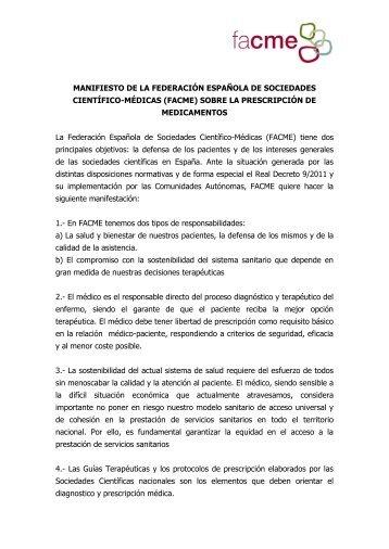 Manifiesto sobre la Prescripción de Medicamentos por Principio ...