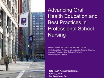 Advancing Oral Health Education and Best Practices in Professional ...