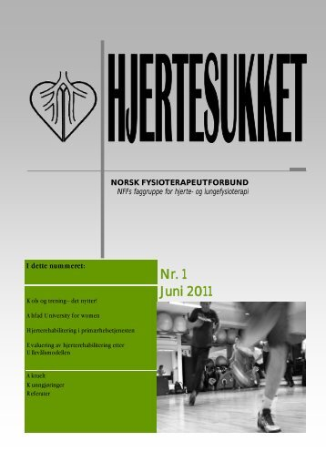 Hjertesukket juni 2011.pdf - Norsk Fysioterapeutforbund