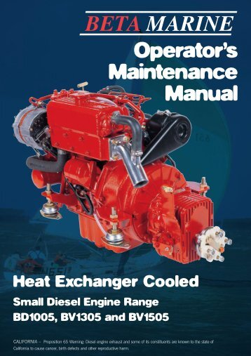 Operator's Maintenance Manual - BlueMoment