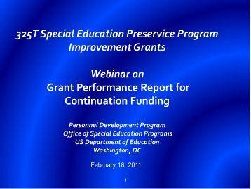 325T Special Education Preservice Program Improvement ... - NCIPP