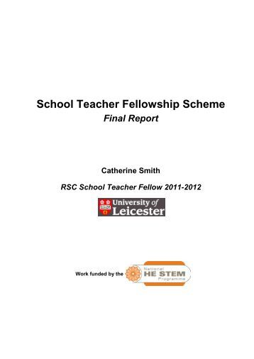 School Teacher Fellowship Scheme - National HE STEM Programme