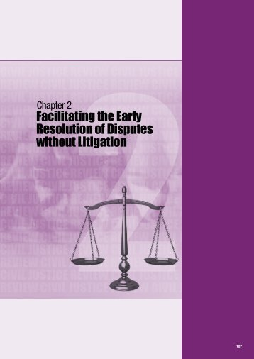 Facilitating the Early Resolution of Disputes without Litigation