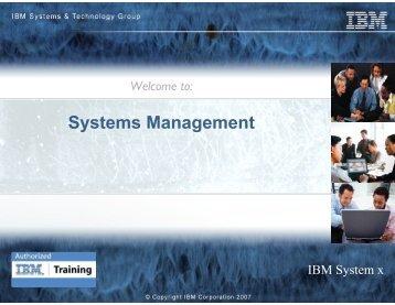 Systems Management - IBM Quicklinks