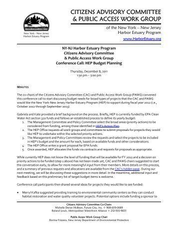 cac-pawg-11dec8 .pdf - New York-New Jersey Harbor Estuary ...