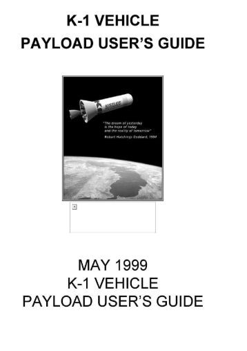 k-1 vehicle payload user's guide