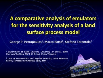 A comparative analysis of emulators for the sensitivity ... - IPSC
