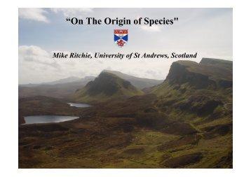 """On The Origin of Species"" - Darwin in St Andrews - University of St ..."