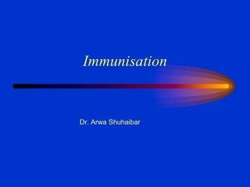 Immunisation 2013