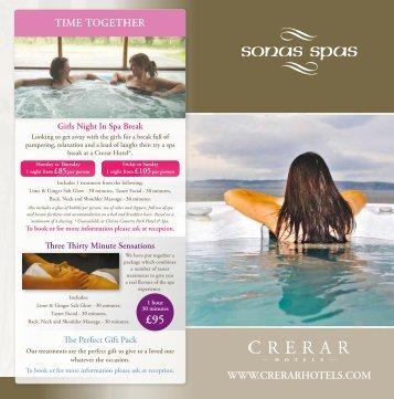 Download our Sonas Spas brochure - Crerar Hotels