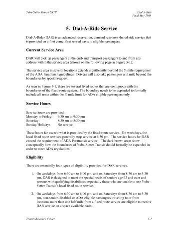 5. Dial-A-Ride Service - Yuba Sutter Transit