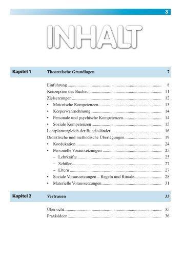 Kapitel 1 Kapitel 2 Theoretische Grundlagen 7 ... - sportfachbuch.de